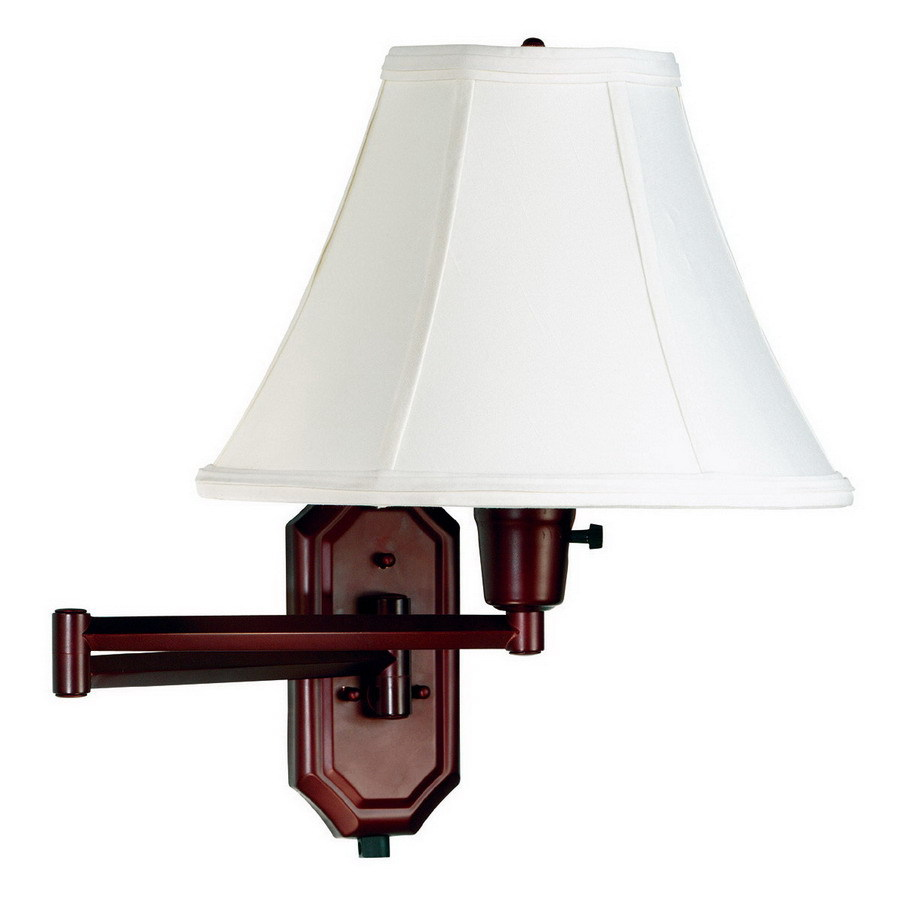 Kenroy Home Nathaniel 15.24-in W 1-Light Bronze Arm Hardwired Wall Sconce