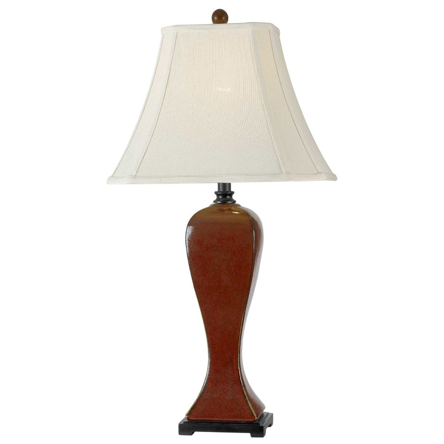 Kenroy Home Onoko 31-in Crimson red Plug-In 3-way Table Lamp with Fabric Shade