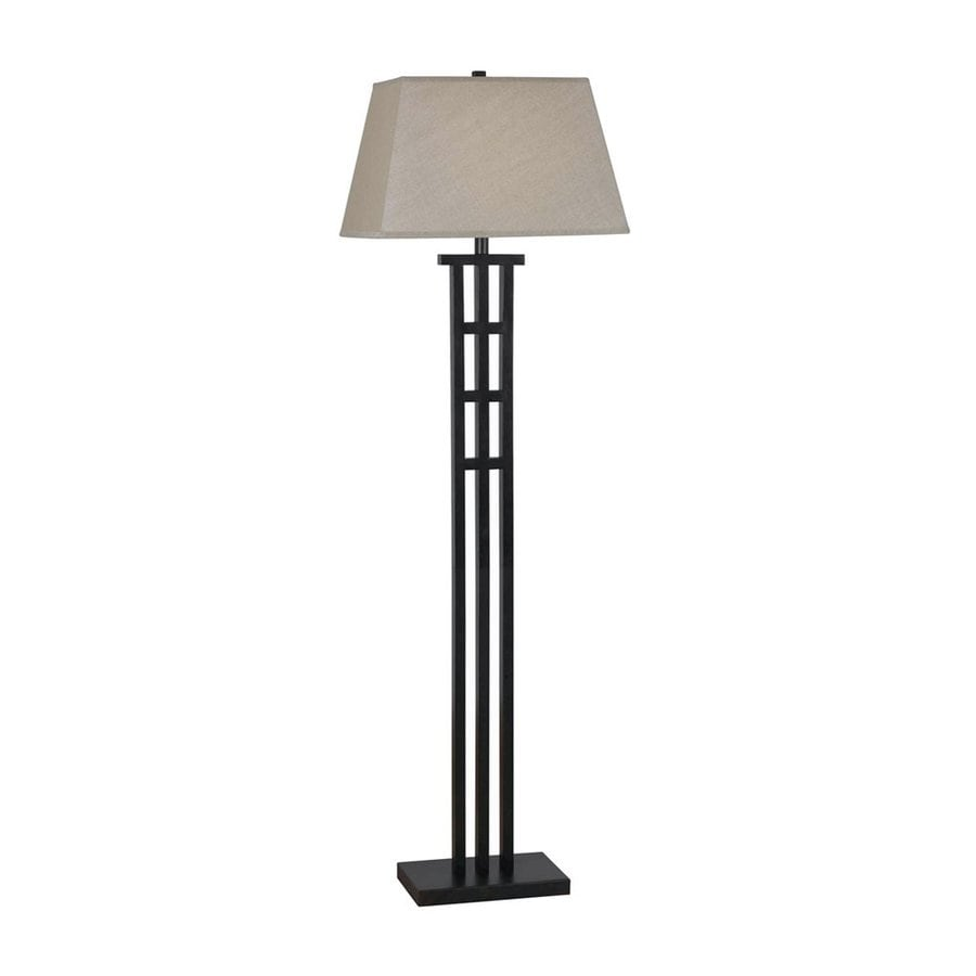 Shop kenroy home mcintosh 58 in bronze 3 way floor lamp for Livorno 3 way floor lamp