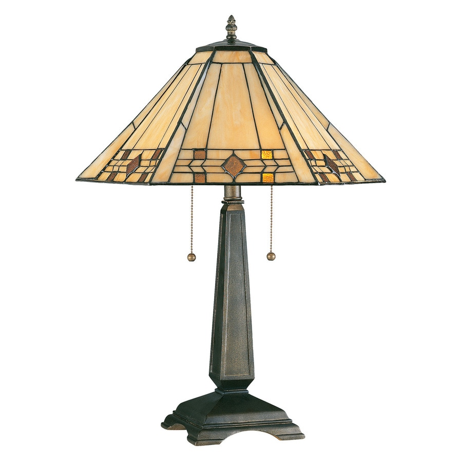 Kenroy Home Willow 24.25-in Bronze Table Lamp with Glass Shade