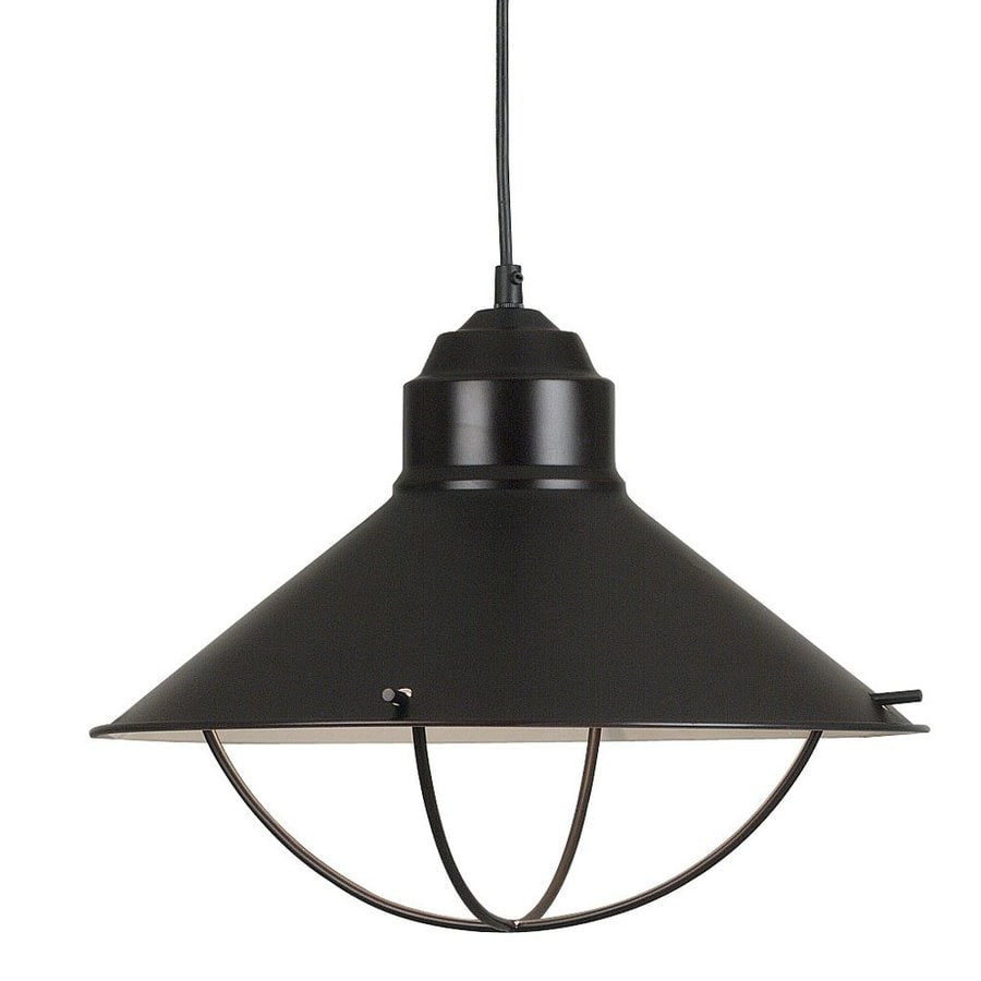 Kenroy Home Harbour 12-in Oil-Rubbed Bronze Barn Single Warehouse Pendant
