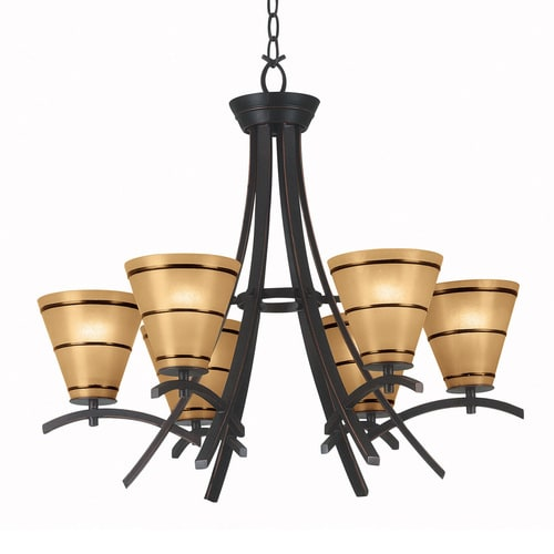 Kenroy Home Wright 27 51 In 6 Light Oil Rubbed Bronze