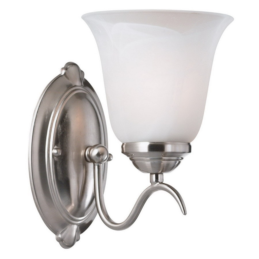 Kenroy Home 6-in W 1-Light Brushed Steel Arm Wall Sconce