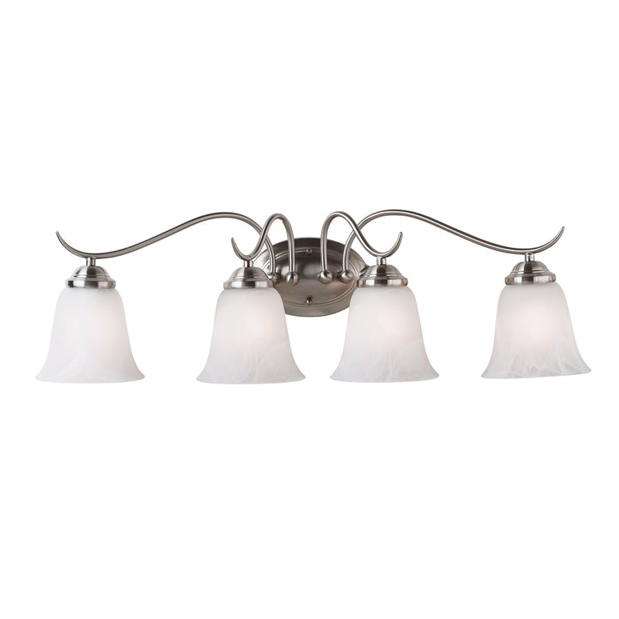 Kenroy Home 4-Light 9-in Brushed Steel Bell Vanity Light