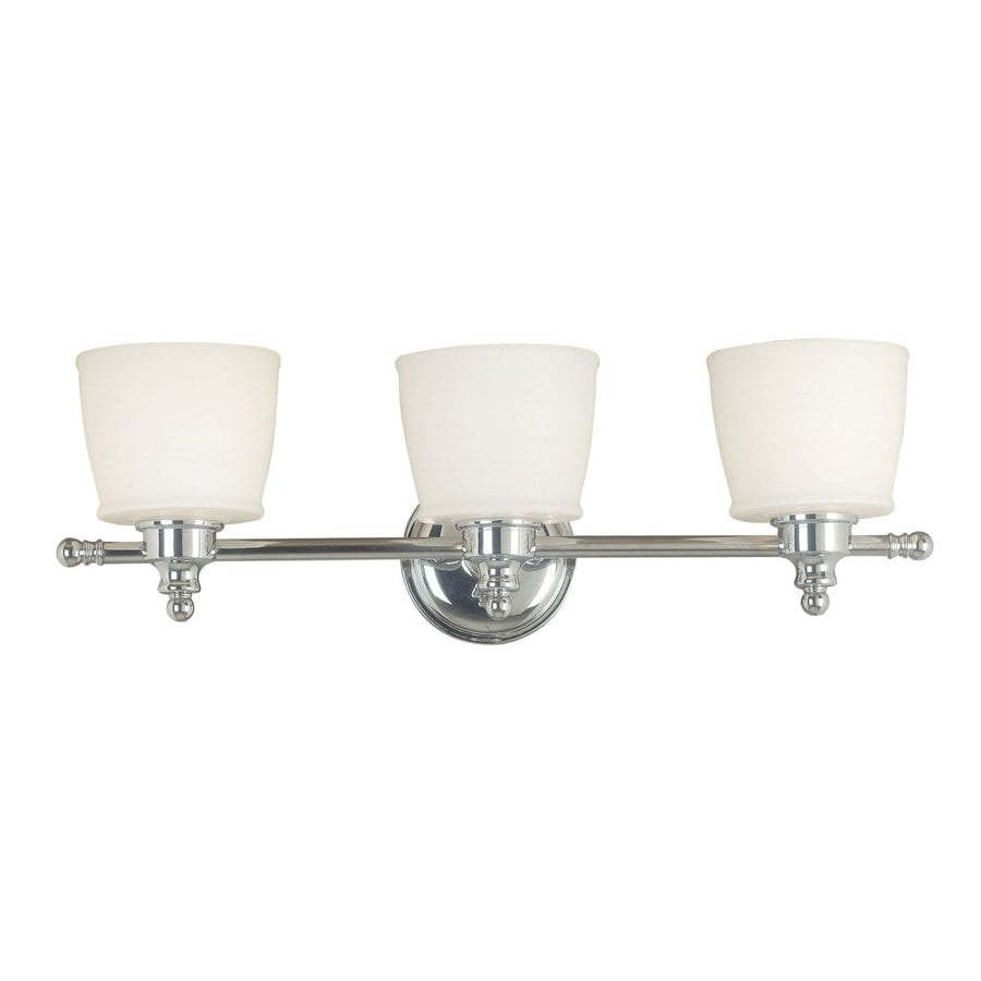 Kenroy Home Riley 3-Light 8-in Chrome Drum Vanity Light