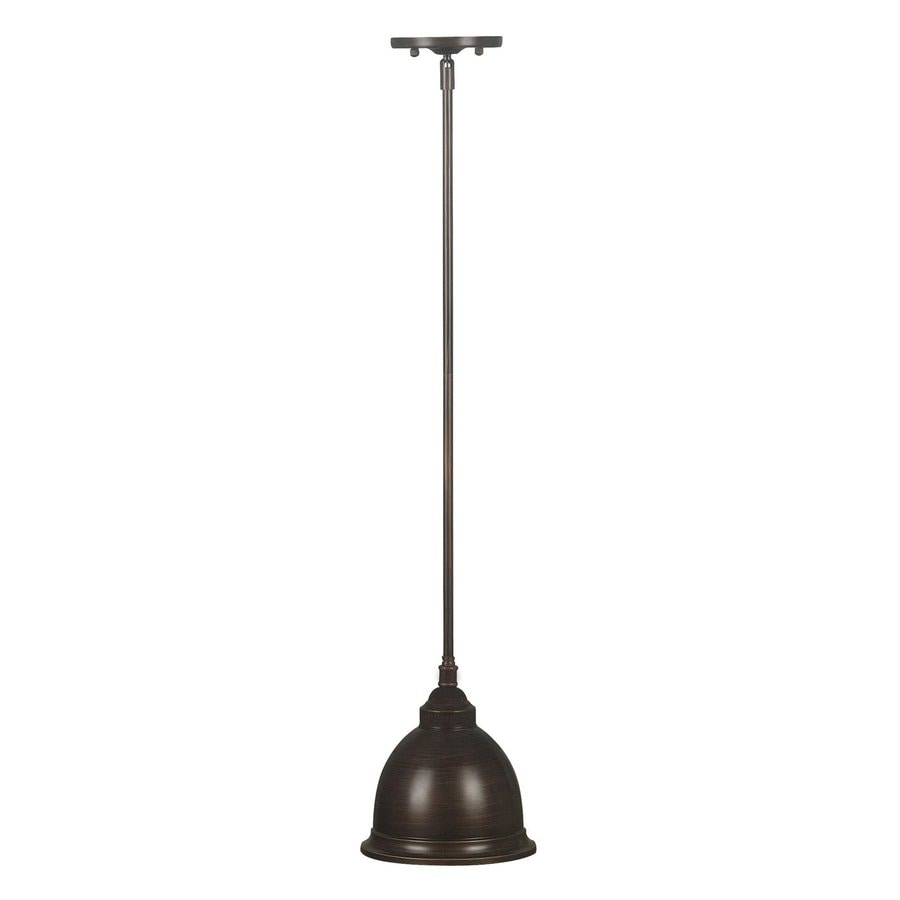 Kenroy Home Carson 8-in Golden Bronze Vintage Mini Bell Pendant
