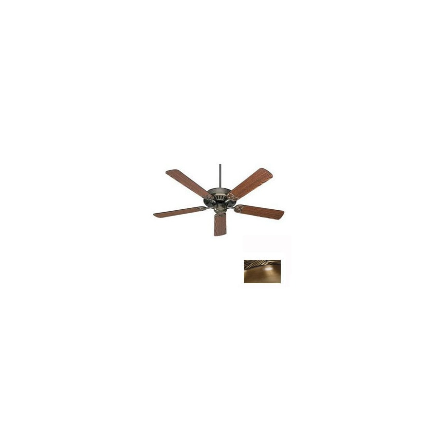 Nicor Lighting 52-in Chateau Antique Brass Ceiling Fan