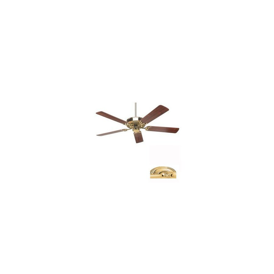 Nicor Lighting 52-in Masterbuilder Polished Brass Ceiling Fan ENERGY STAR