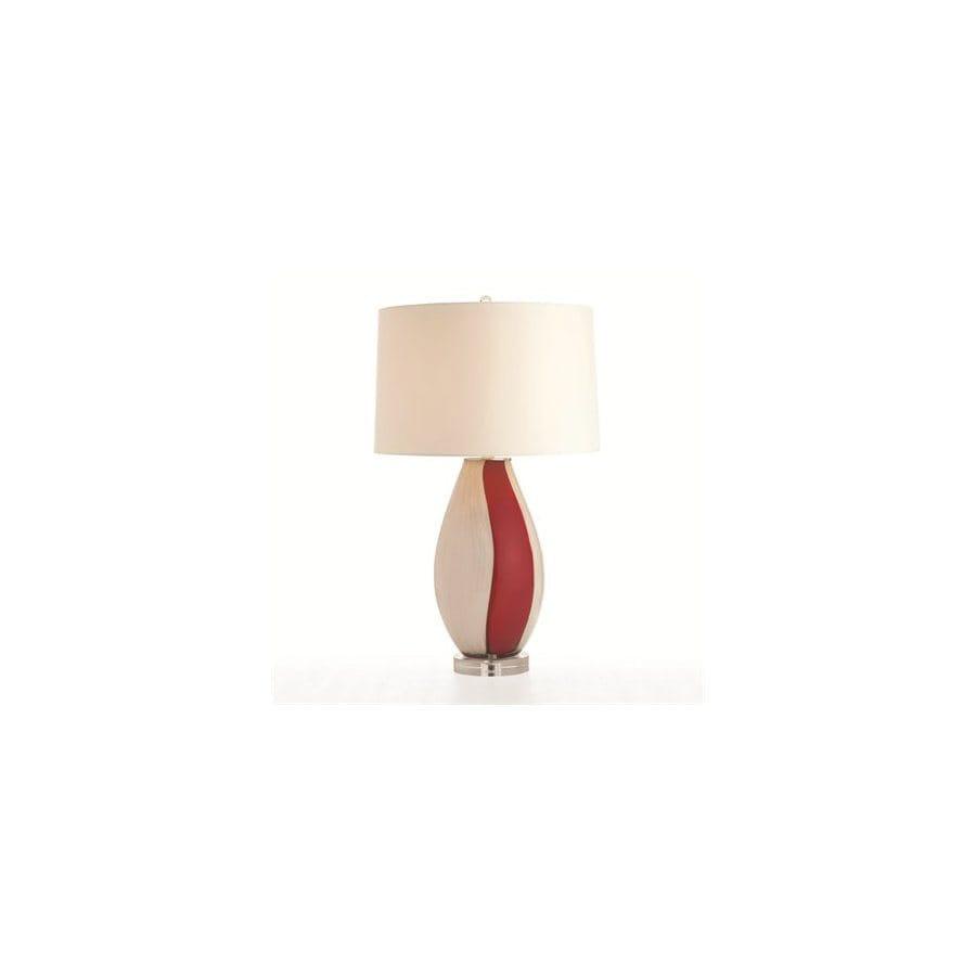 Shop Arteriors Home 31 1 2 In Red White Gold Table Lamp With Ivory