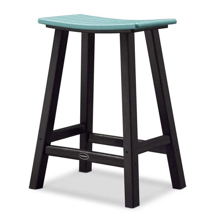 POLYWOOD Contempo Aruba Plastic Patio Barstool Chair