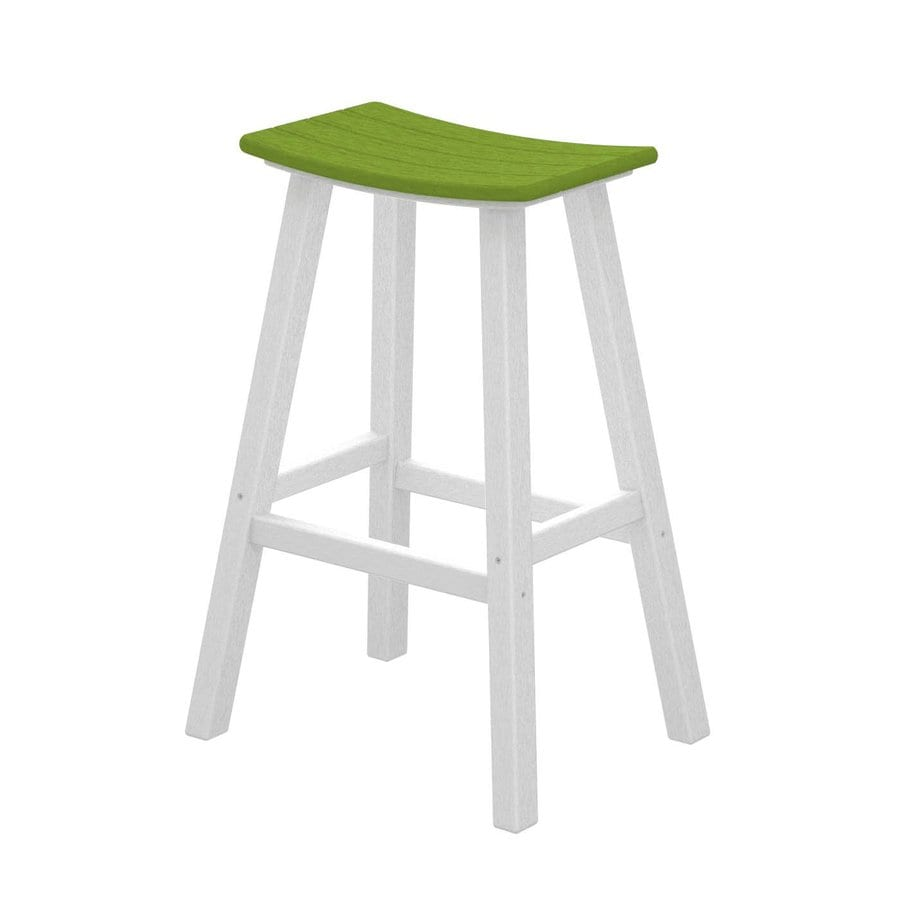 POLYWOOD Contempo Lime Plastic Patio Barstool Chair