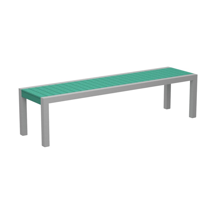 POLYWOOD Mod 18-in W x 68-in L Aruba Plastic Patio Bench