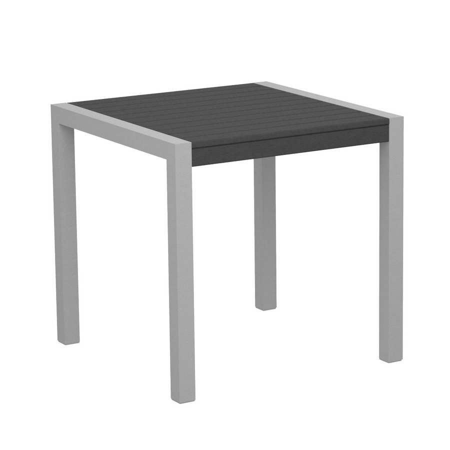 POLYWOOD Mod 29.75-in W x 29.75-in L Square Aluminum Bistro Table