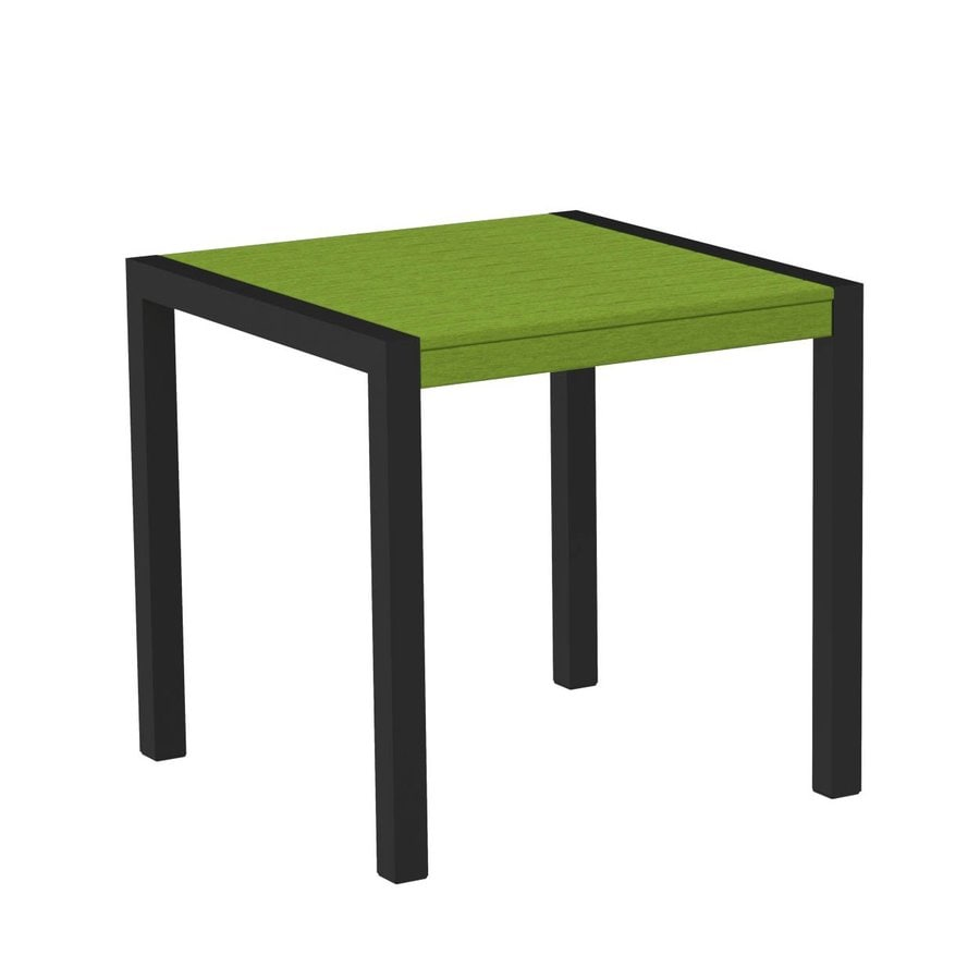 POLYWOOD Mod 29.75-in W x 29.75-in L Square Aluminum Bistro Table