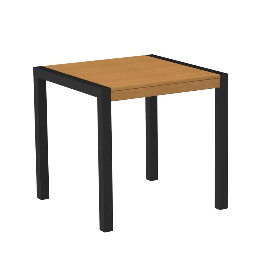 POLYWOOD MOD 29.75-in W x 29.75-in L Square Plastic Bistro Table