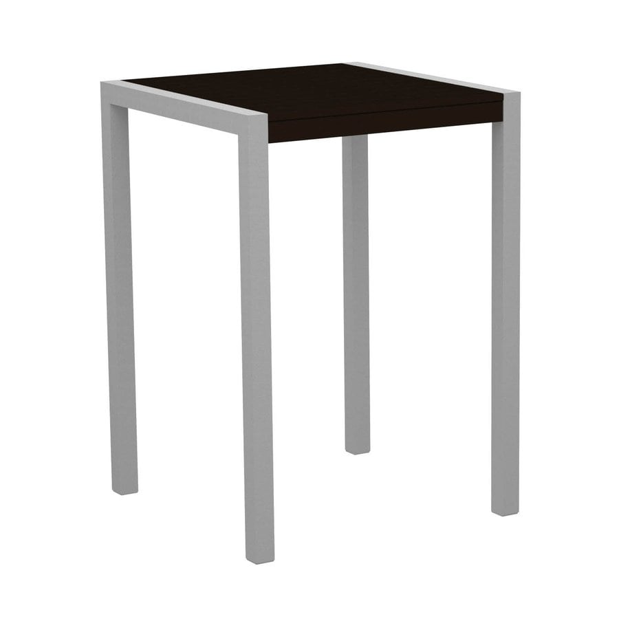 POLYWOOD Mod 29.75-in W x 29.75-in L Square Aluminum Bar Table