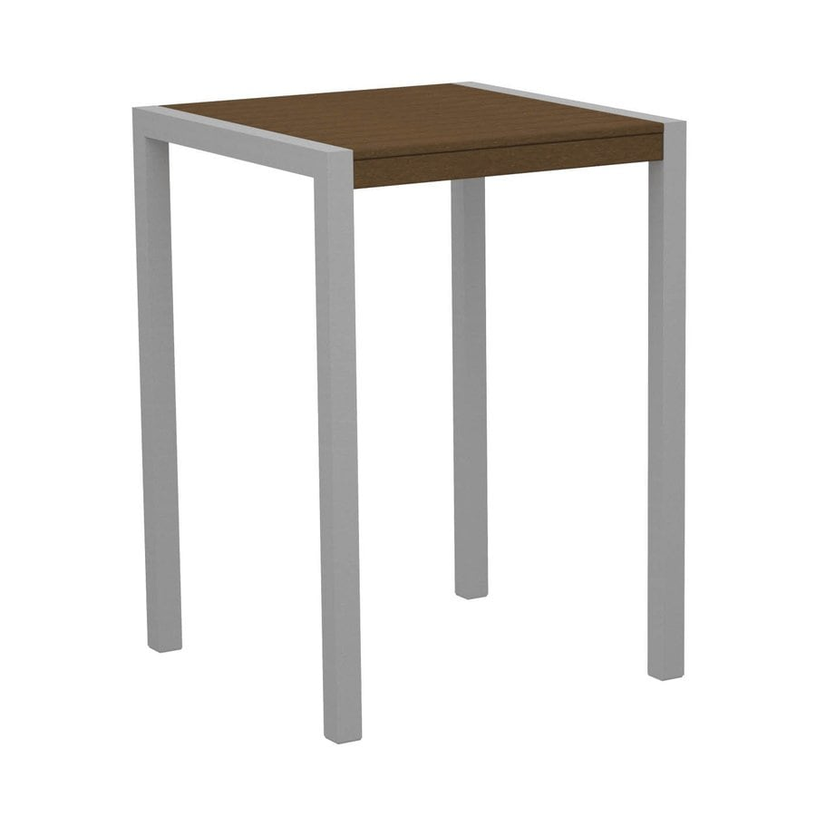 POLYWOOD MOD 29.75-in W x 29.75-in L Square Plastic Bar Table
