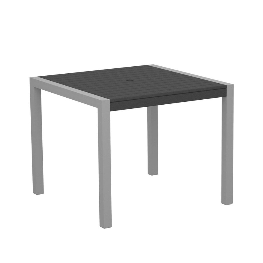 POLYWOOD MOD 35.18-in W x 35.18-in L Square Plastic Dining Table