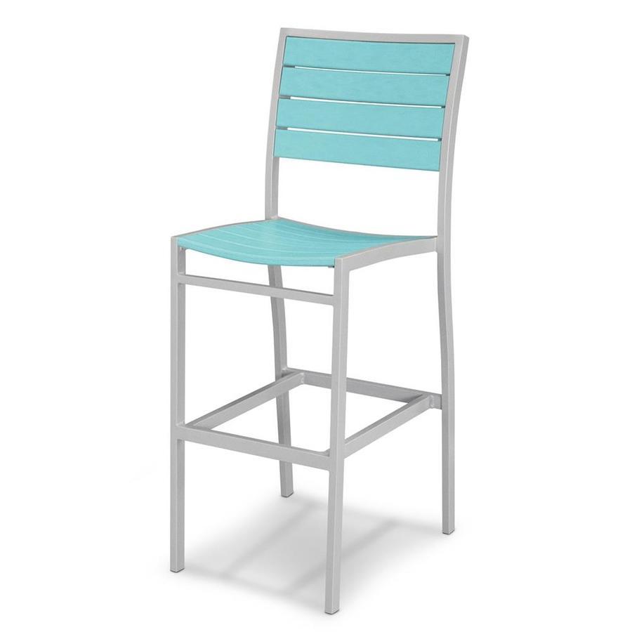 POLYWOOD Euro Aruba Aluminum Patio Barstool Chair