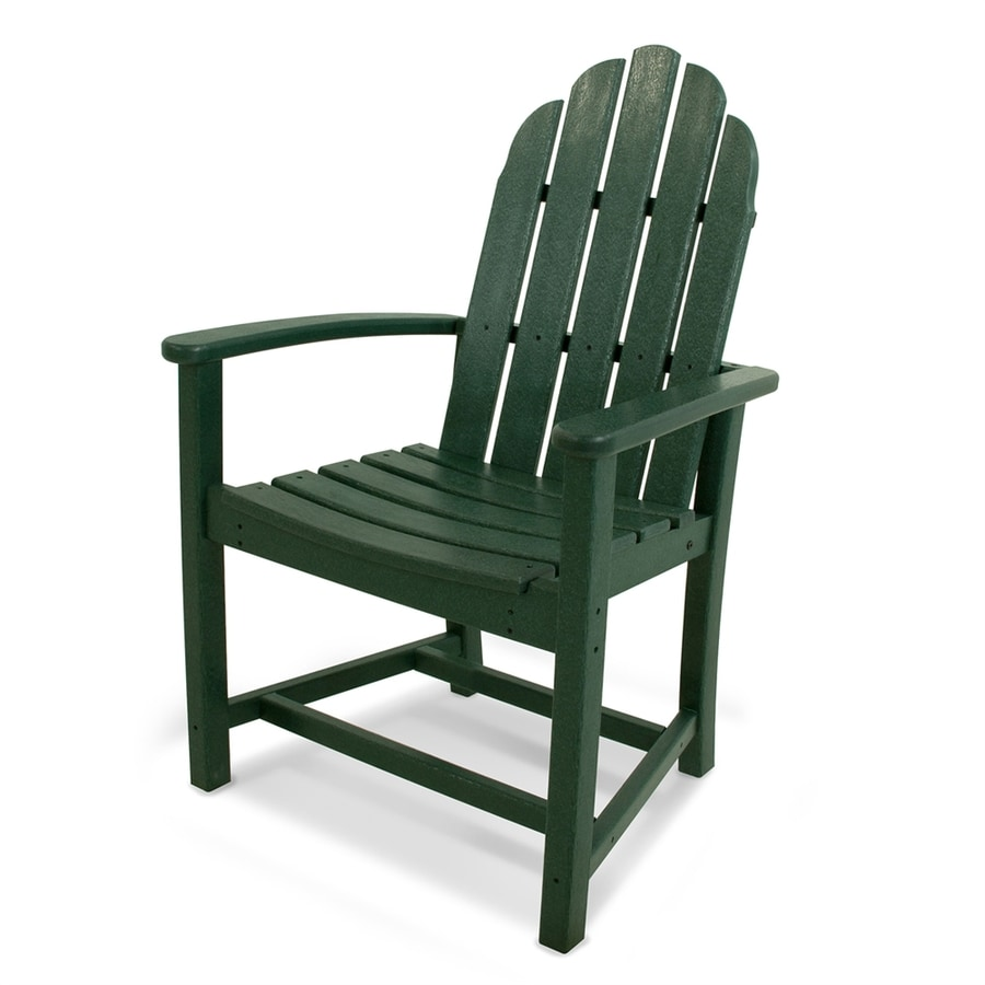 POLYWOOD Classic Adirondack Green Plastic Dining Chair