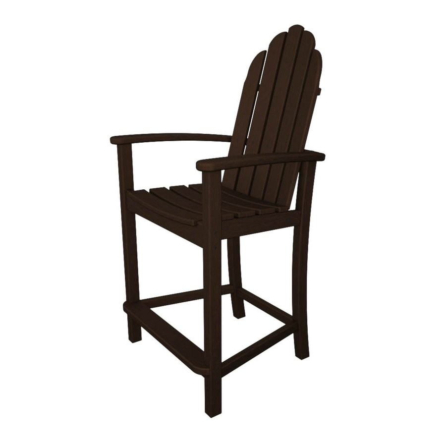 Shop polywood classic adirondack mahogany plastic patio adirondack chair at Polywood bench
