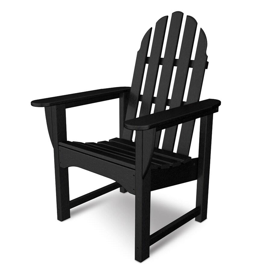 POLYWOOD Classic Adirondack Black Plastic Adirondack Chair