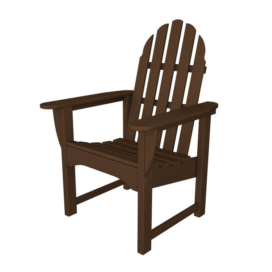 POLYWOOD Classic Adirondack Mahogany Plastic Patio Adirondack Chair