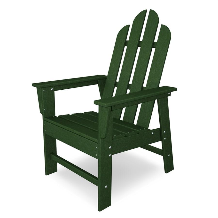 POLYWOOD Long Island Green Plastic Patio Dining Chair