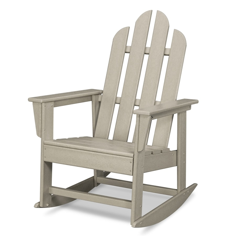 Shop POLYWOOD Long Island Sand Plastic Rocking Chair At Lowescom - Outdoor furniture long island