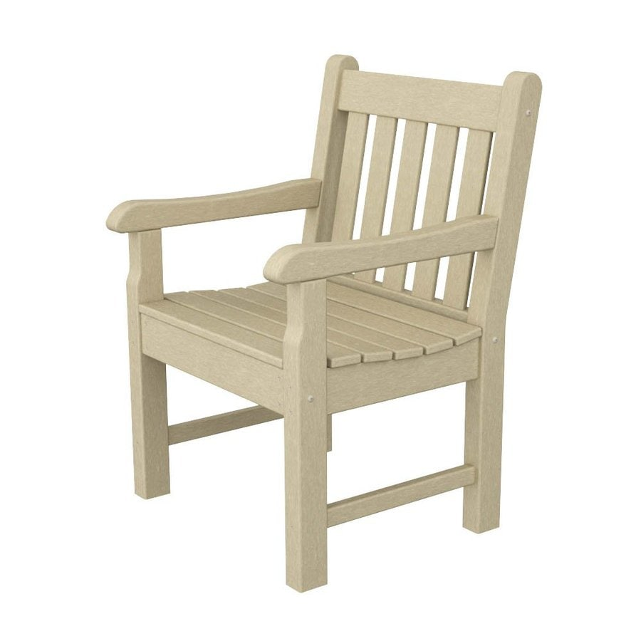 POLYWOOD Rockford Sand Plastic Patio Conversation Chair
