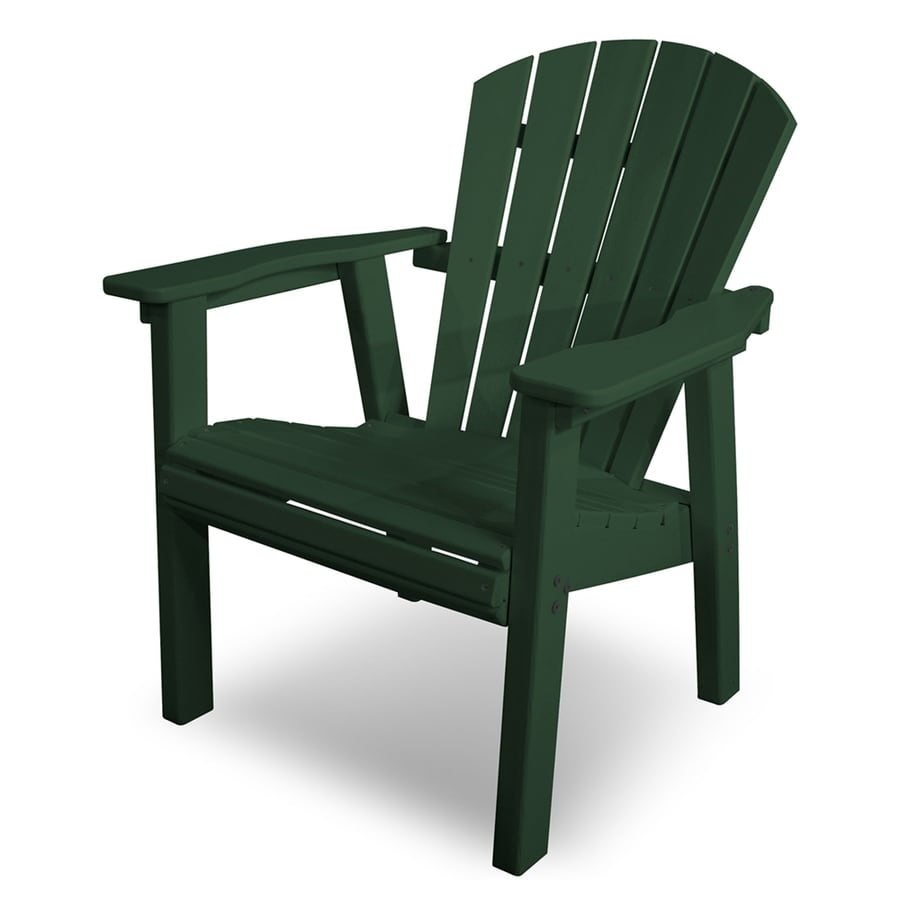 Shop POLYWOOD Seashell Green Plastic Adirondack Chair At