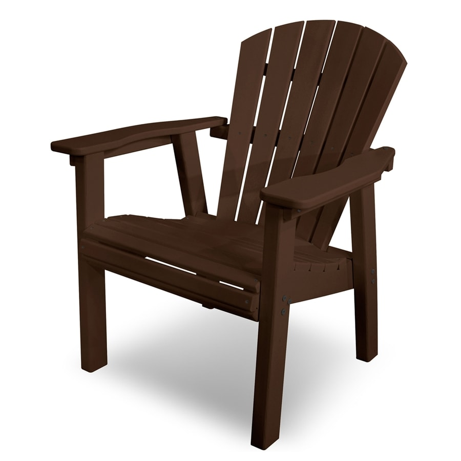 Shop polywood seashell mahogany plastic patio adirondack chair at lowes com