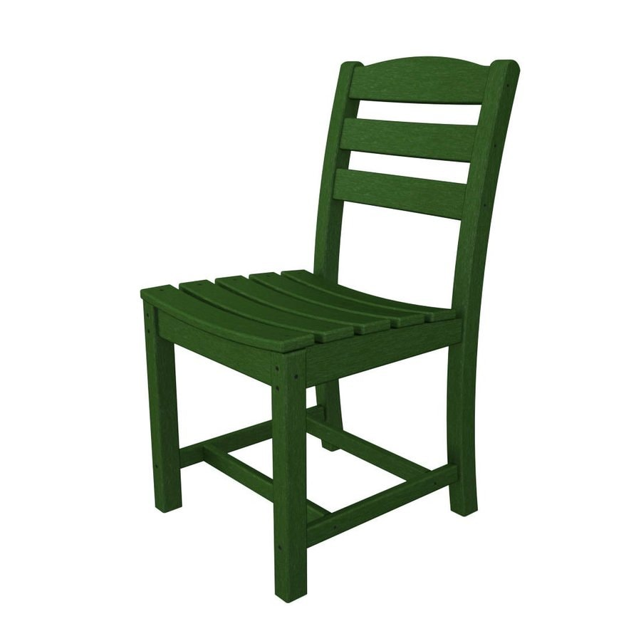 la casa cafe 2 count green plastic patio dining chairs at