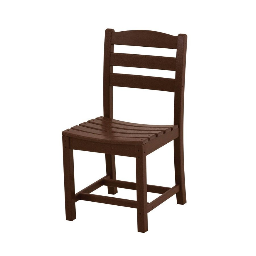 POLYWOOD La Casa Cafe 2-Count Mahogany Plastic Patio Dining Chairs