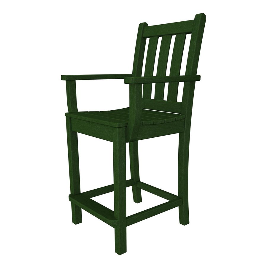 shop polywood traditional garden green plastic patio
