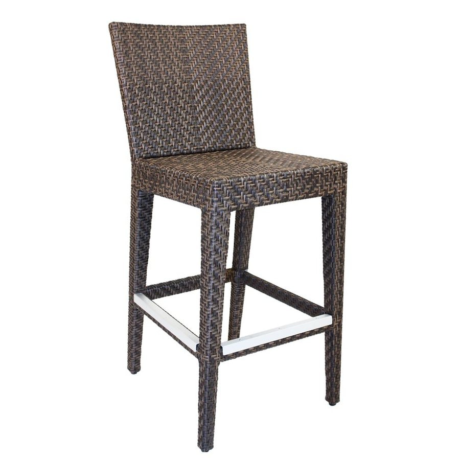 Hospitality Rattan Soho Wicker Patio Barstool Chair