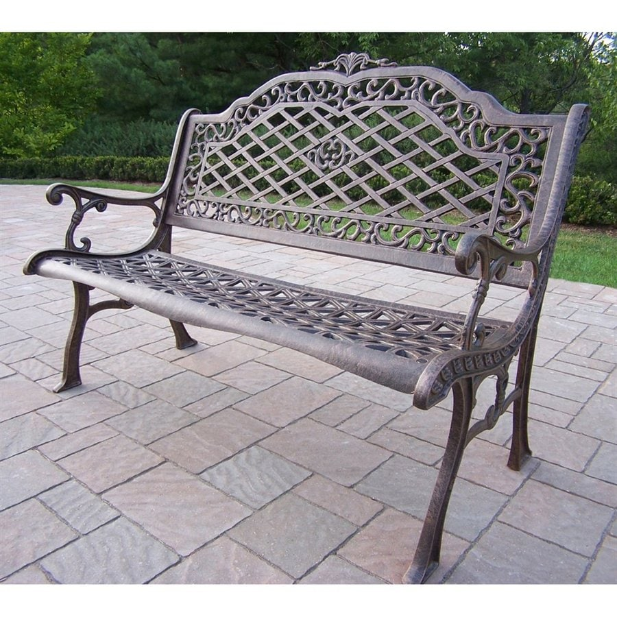 Shop oakland living 40 in l aluminum patio bench at Lowes garden bench