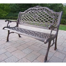 Oakland Living 40 In L Aluminum Patio Bench