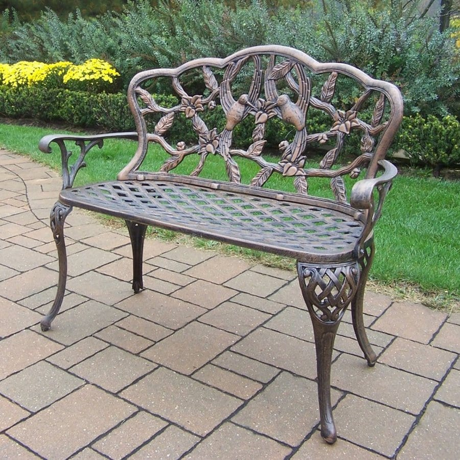 Shop Oakland Living 36 In L Aluminum Patio Bench At: lowes garden bench