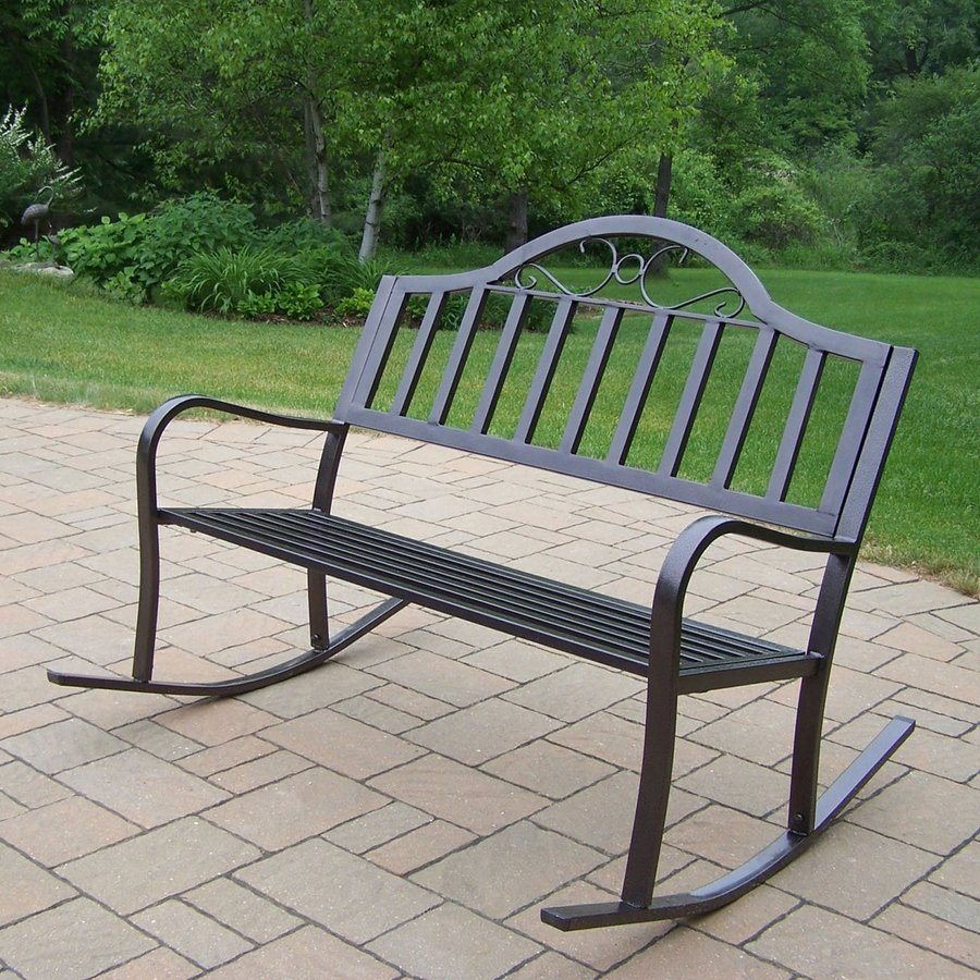 Oakland Living 34-in L Steel/Iron Patio Bench