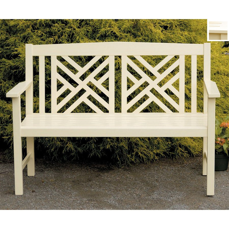 ACHLA Designs 48-in L Patio Bench