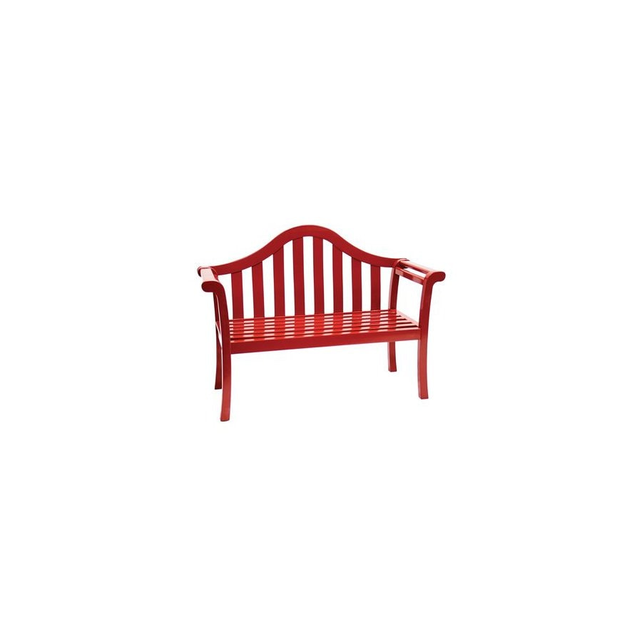 ACHLA Designs 26-in L Painted Wood Kids Patio Bench