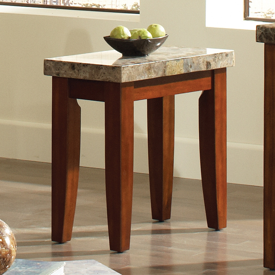 Steve Silver Company Montibello Burnished Medium Cherry Birch End Table