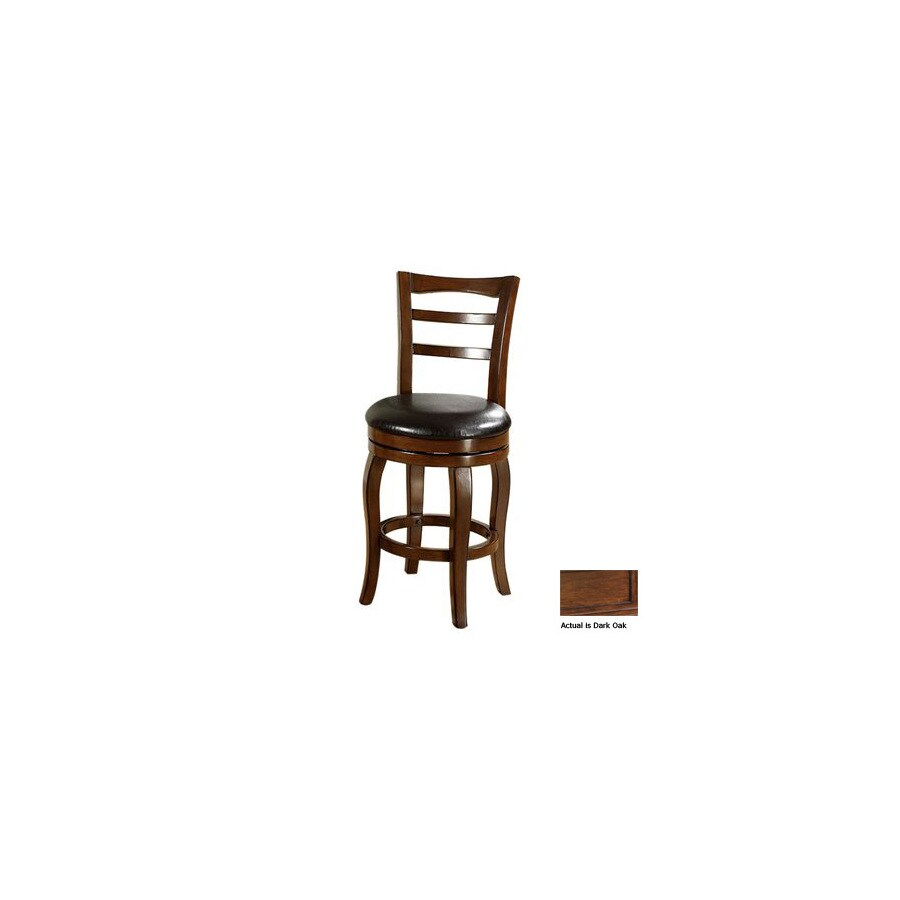Furniture of America Southland Dark Oak 24-in Counter Stool