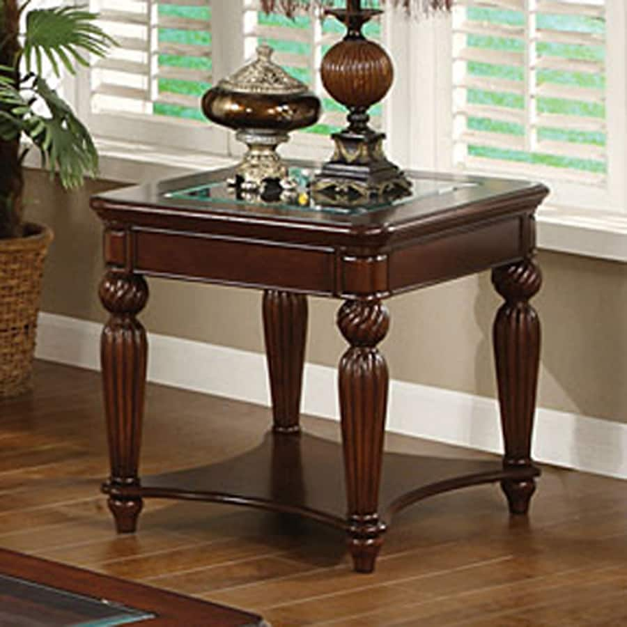 Furniture Of America Windsor Dark Cherry Gl Casual End Table