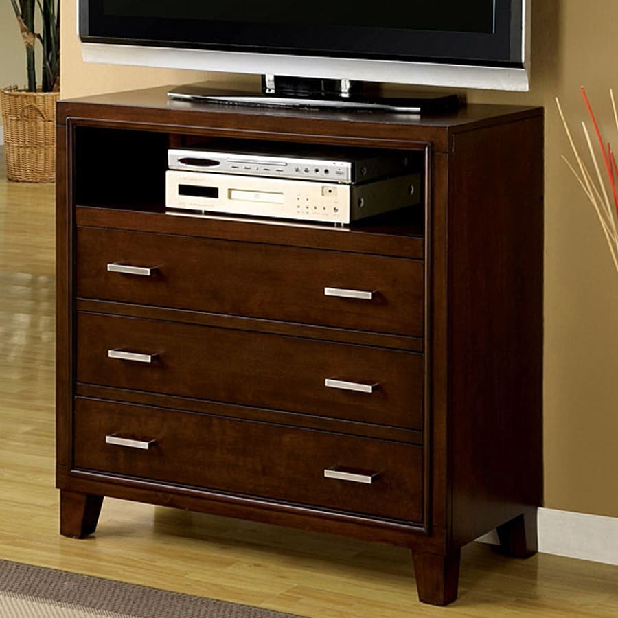 Furniture of America Enrico Brown Cherry TV Cabinet