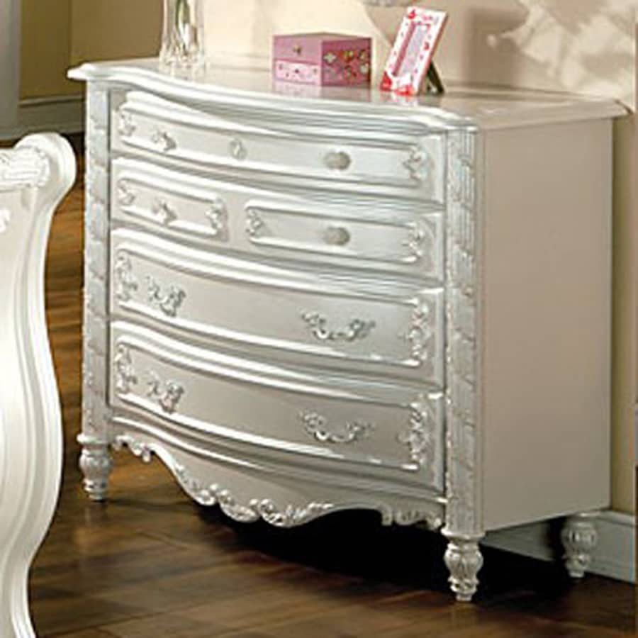 Furniture of America Alexandra Pearl White 4-Drawer Dresser
