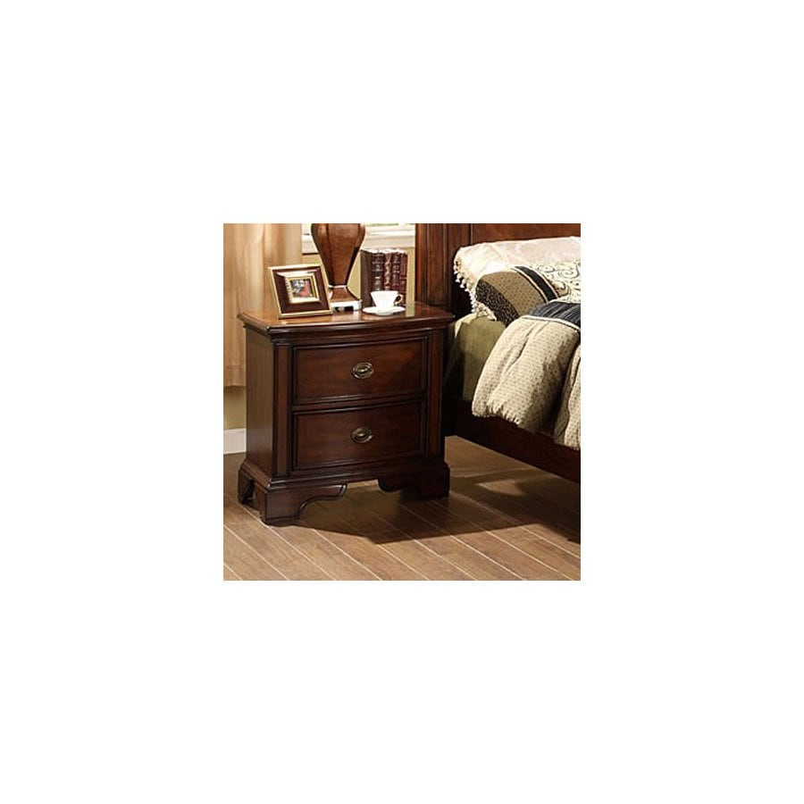 Furniture of America Carlsbad Dark Cherry Birch Nightstand