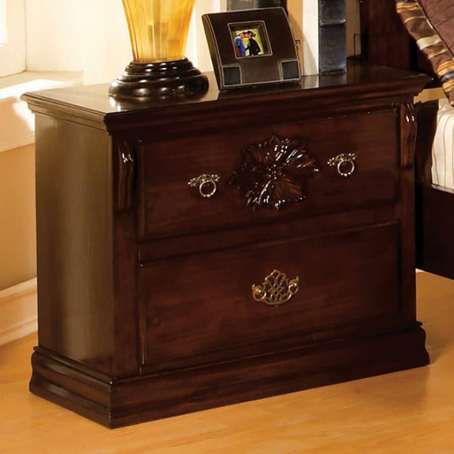 Furniture of America Tuscan II Dark Pine Nightstand