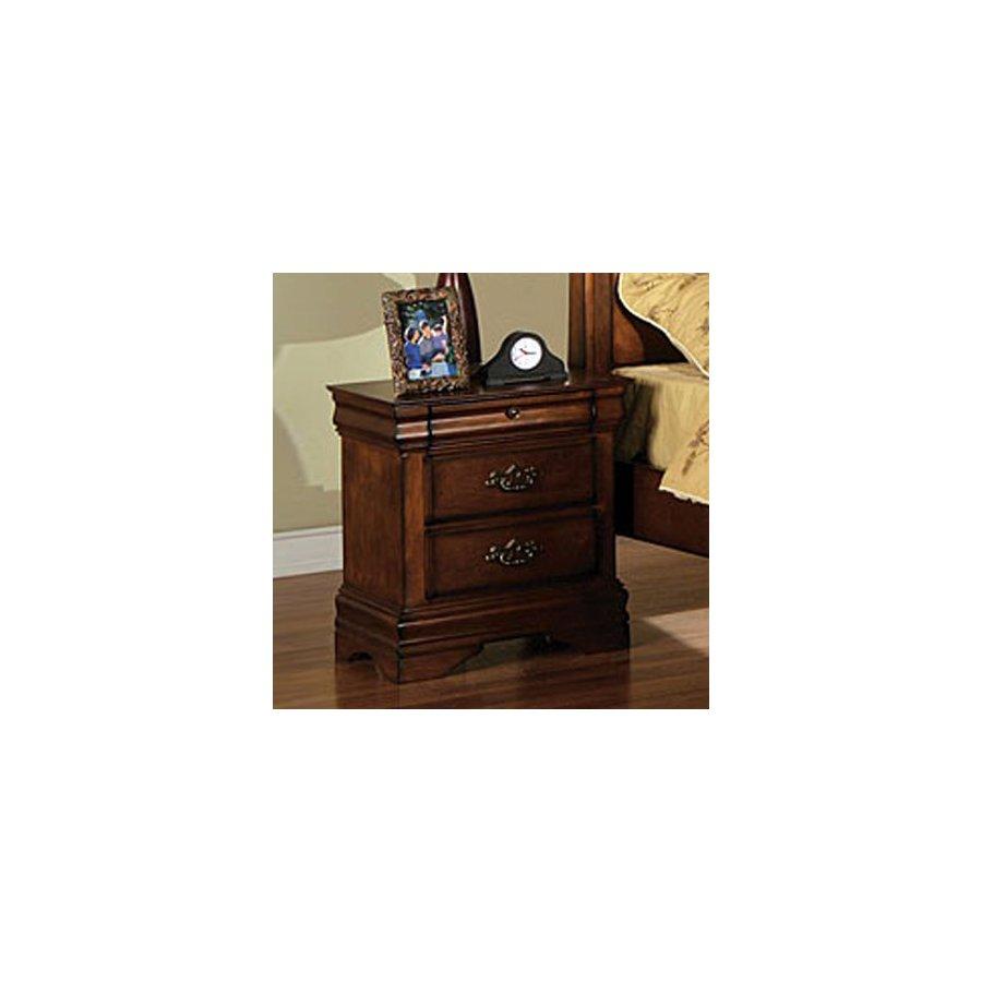 Furniture of America Venice Dark Oak Birch Nightstand